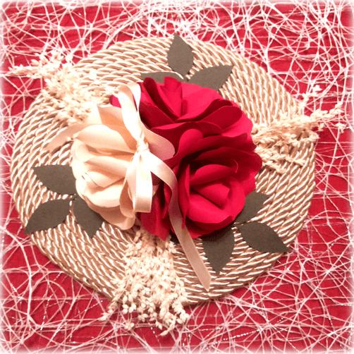 Porta alianzas modelo Trío de rosas
