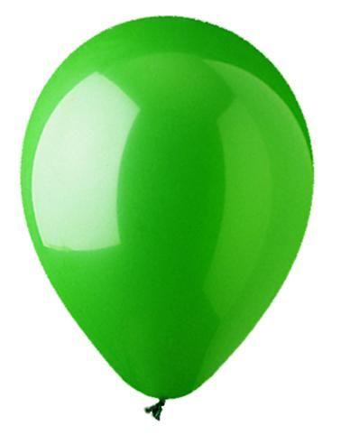 Beispiel: Ballon grün, Foto: Ballonkurier.