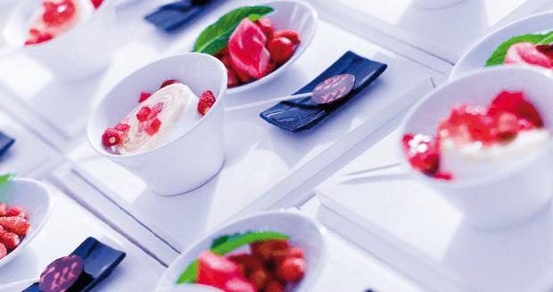 Beispiel: Festliches Menü oder Buffet, Foto: Zuspann Finest Catering.