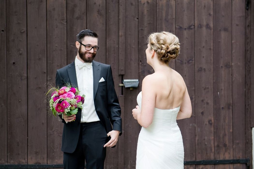 Modernes Brautstyling locker gesteckt, sylvia-mobil