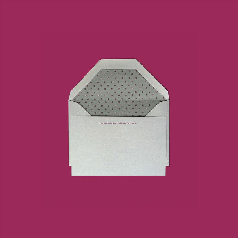 DIMASS Tarjetas de PAPELERIA PERSONAL, para agradecimiento de regalos. El interior puede ser igual que cualquiera de los forros de nuestras invitaciones.