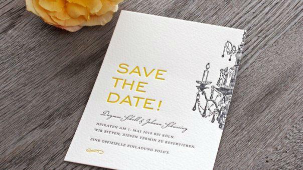 Beispiel: Save-the-date-Karte Sanssoucis, Foto: Honeybird.
