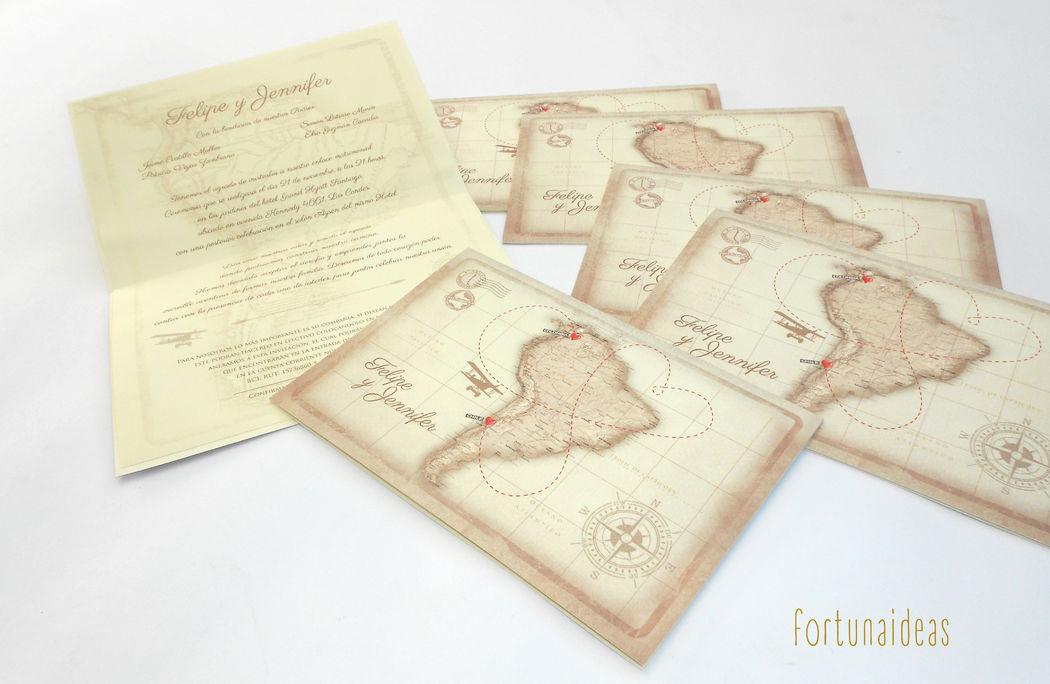 Invitaciones tipo viajera