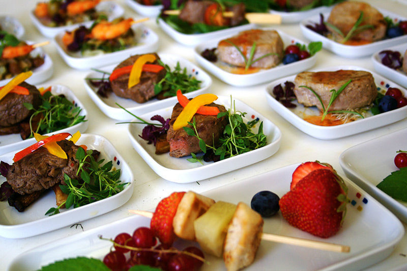 Beispiel: Flying Buffets, Foto: Brunckhorst Catering.