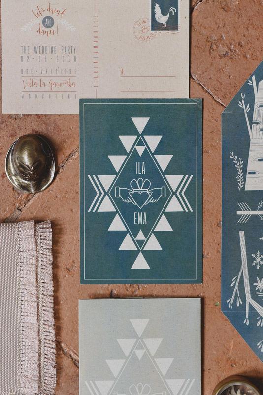Stationery: illustrazioni personalizzate e stile boho - foto di L&V Photography
