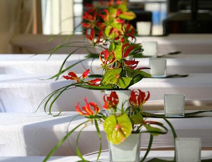 Beispiel: Florale Dekoration, Foto: Alsterlounge.