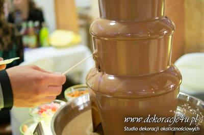 Fontanna czekoladowa Inspiracje Weselne