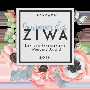 "Zankyou International Wedding Award ""Beste Hochzeitsplaner 2016"""